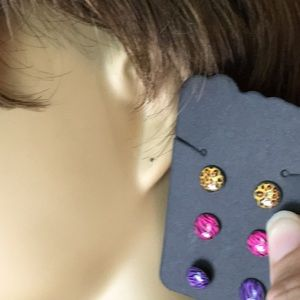 Accessories - 3 Pairs of Stud Earrings